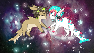 Sharks in space by CARBONATED-STARDUST