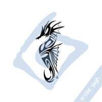 Tribal Seahorse by Erotic-sigh