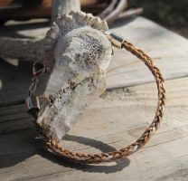 Braided Horsehair Bracelet - Rory and Wildfire 3 by TarpanBeadworks