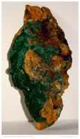 Brochantite with Azurite by In-the-picture