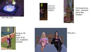 Itachi and Reicheru on Sims 2 by Rachelthehedgehog