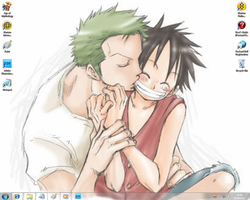 Zoro x Luffy by SophieSmoore