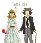 sam and joon by HILLYMINNE