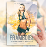 Framboise Electro House Party Flyer by sorengfx