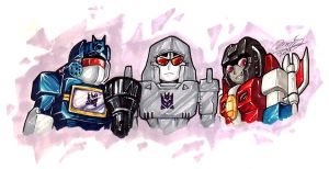 SD Decepticon Trio by Ccamang