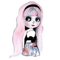 Blythe Doll Painting by burntfeather