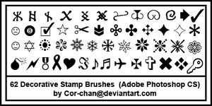 Icon Deco Stamp Brushes by Cor-chan
