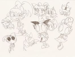 Many drawings of mew by MewRingo