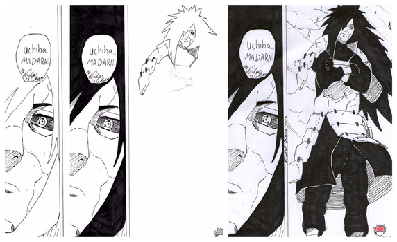 Madara done with inks by NicOliverArt