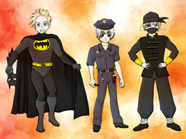 APH - Halloween Den+Ice+Nor by cutepiku
