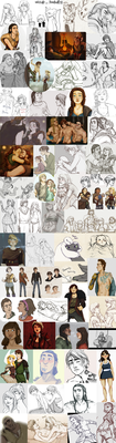 A year of doodling by AvannaK