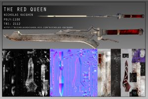 The Red Queen Texture Sheet by nicholasKaighen