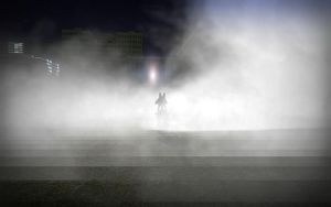 Lucario in the fog by Sergey004