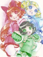 Powerpuff Girls Z by OtakuWarlordBehimiel