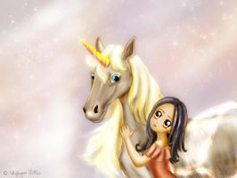 The fairy and the unicorn by Shyleynn