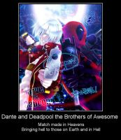 Dante and Deadpool by Andarion