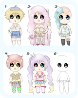 SALE!! Adopt Batch 1 [OPEN] by tiraemisu