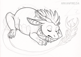 Baby Arkan wip by ArkanFire