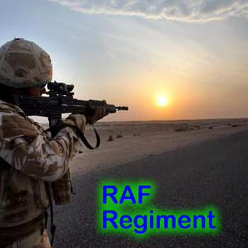 RAF Regiment Sunset by Chamelio2