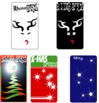 holiday labels by TomKellyART