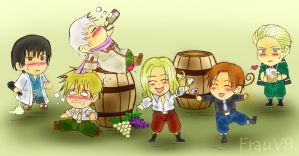 APH - Drinking Party by FrauV8