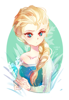 frozen: snow queen by califlair