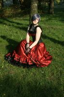 Black-red dress silver wig 9 by Sayashi-Stock