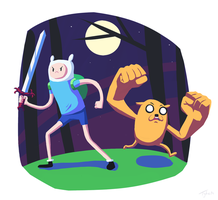 Finn-and-Jake by Little-Tyke
