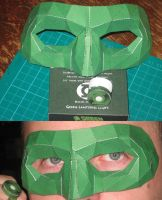 Green lantern Mask by paperart