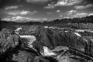 Great Falls BW HDR by ruabuddha