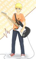 [Commission] Naruto Left-handed Guitarist by mayuuzu