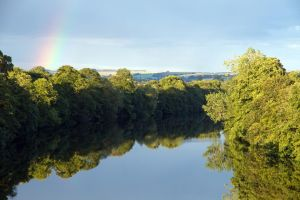 Rainbow over the Tyne by parallel-pam