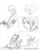 Bleach Gin Kira_Hold Me_Sketch by letainajup