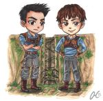 Chibi Comission Thomas and Minho Maze Runner by Valaquia