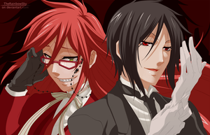 Sebastian and Grell by iAbadon