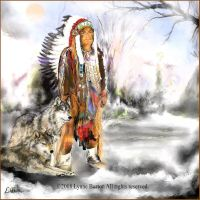 Goshe Apache - painting by Lynne-Abley-Burton