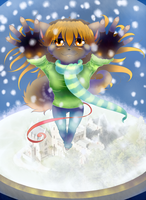 Ball with snow by Rimora