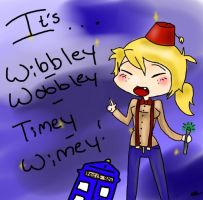 Wibbley Wobbley Timey Wimey with a Blue Box by Snicket-Chan
