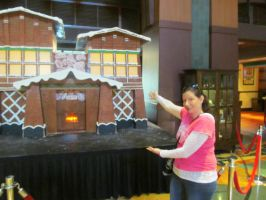Nancy in front of the Gingerbread House by BigMac1212