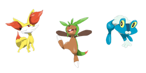 new starters by DeeJaysArt1993