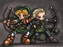 ::Elf and Hylian Collab:: by IvyBeth