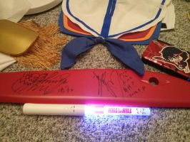 Kill La Kill Signed Scissor Blade AX 2014 by BurstingTheSeams