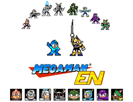 Mega Man EN T-shirt design by ZarelTheWindDragon