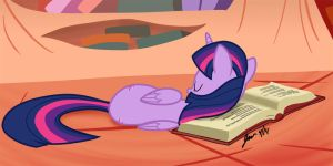 Asleep in a Book by ScruffyToto