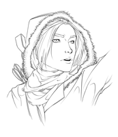 Rise of the Tomb Raider - lineart by R0DV14S04M3N