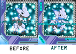 Yakumon (before and after redesigned) by ginryuumaru
