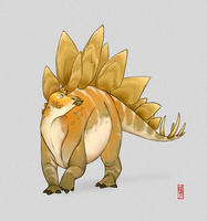 Stegosaurus by CamaraSketch