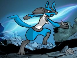 Pokemon Art Academy Lucario-Did not do background by XetaJTS