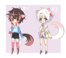 (Set price) Nekoheart adoptables CLOSED by Purichie