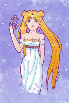 Queen Serenity with Stars by Miracoin